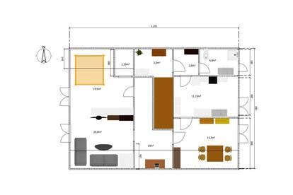 Grenznahe Dachgeschosswohnung für 2 Personen