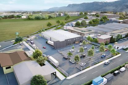 Lagerhalle mit Büro's & Freiflächen in absoluter Toplage - 3 Optionen mit ca. 680m², 890m² oder 1580 m² Hallenfläche