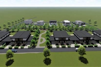 Schlüsselfertige Neubau Doppelhaushälfte in sonniger Wiesen Gegend