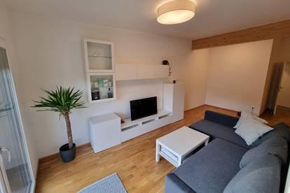 Moderne vollmöbelierte Wohnung in absoluter Ruhelage + Carport + Kellerabteil