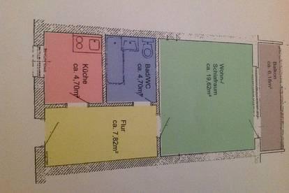 Großgarconniere, 43m2, zentrale Lage, Miete inkl. BK und HK und USt insg. 750€