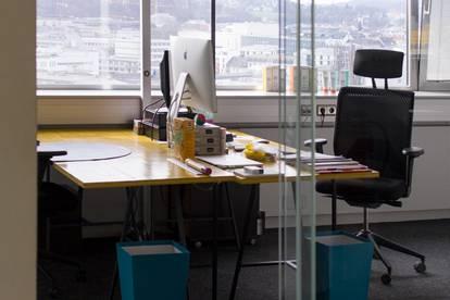 Büropartner für Werbeagentur: 25 - 290 m2 über den Dächern im Linzer City Tower 1