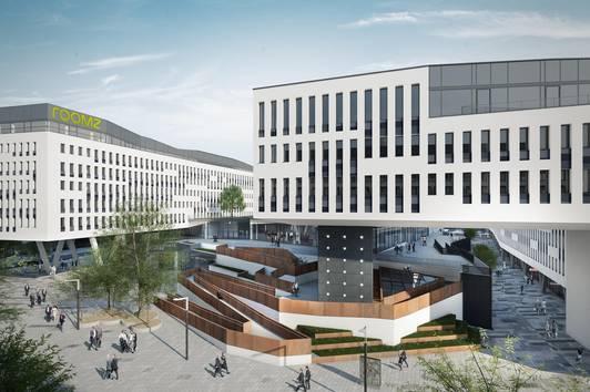 Office-Cluster 4.0: Arbeiten inmitten aller Annehmlichkeiten eines Campus Areals.