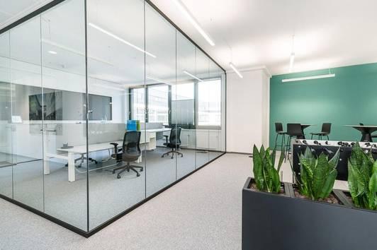 Flexible Büroflächen gepaart mit den Vorteilen eines Office-Clusters.