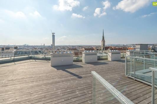 Sonniges Wohnen mit Riesenterrasse: exklusives Penthouse mit 93 m² Dachterrasse