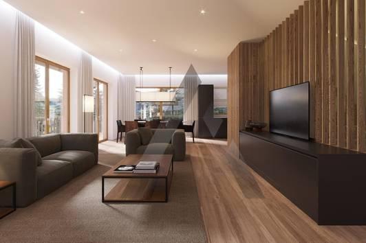 Neubau RIVERSIDE: Penthouse-Wohnungen in Pistennähe