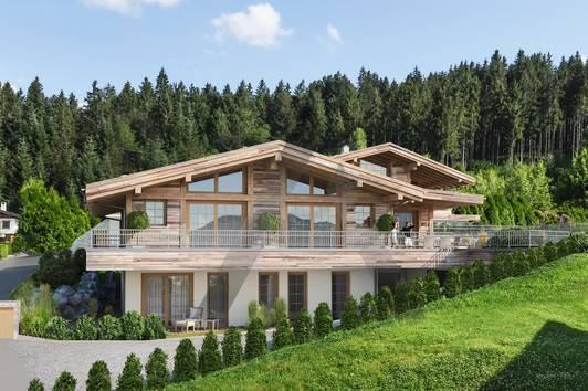 Neubau: Chalets in Aussichtslage am Waldrand