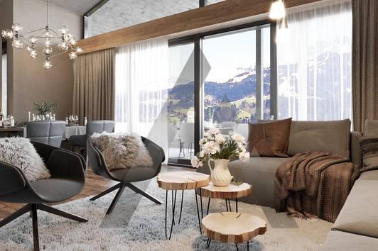 Neubau-Penthouse in Ruhelage mit Kaiser- & Hornblick