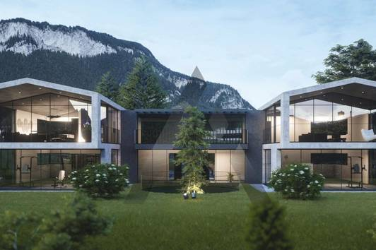 Moderne Gartenwohnung mit Bergpanorama