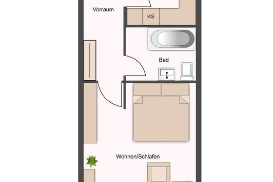 1 1/2 - Zimmer Wohnung in Dornbirn zu verkaufen   besonders geeignet für Anleger !