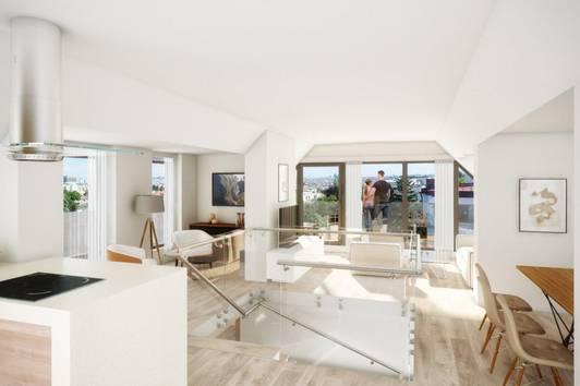 Exklusives Penthouse mit Terrassen und traumhaftem Fernblick Nähe Gersthof
