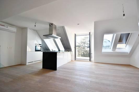 Moderne Neubau DG - Wohnung mit zwei Balkonen in Hütteldorf
