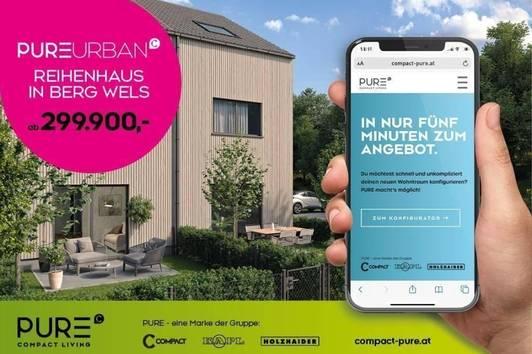 REIHENHAUS - PURE URBAN in Holzriegelbauweise - inkl. 1 Pkw-Abstellplatz und Garten