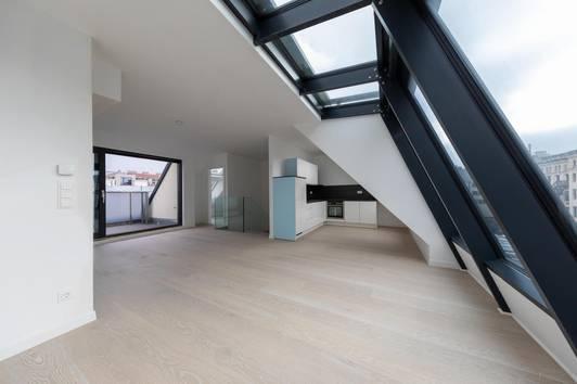 NEUBAU, Dachgeschoß,Erstbezug, Hoch-Exklusive und Moderne 4 Zimmer Dachgeschoß Nähe Naschmarkt, Schlüsselfertig !!