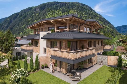 Neubau im Tiroler Stil: Wohnungen in zentraler Lage