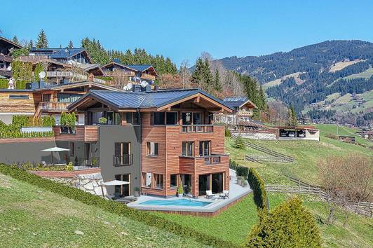 Exklusives Chalet mit Bergblick in sonniger Lage
