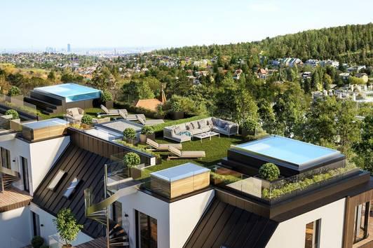 Einzigartiges Penthouse mit Dachgarten und Pool mit sensationellem Ausblick