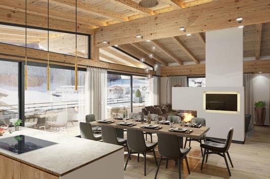 """Luxus Dachgeschoss Wohnung """"Mountain View Residences Kirchberg"""""""