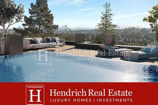 Penthouse mit Panoramaweitblick und Pool auf der Dachterrasse in exklusivem Neubauprojekt