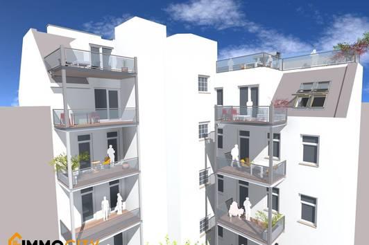 Sonnendurchflutete 2-Zimmer Wohnung im Dachgeschoss + 40 m² Dachterrasse!!