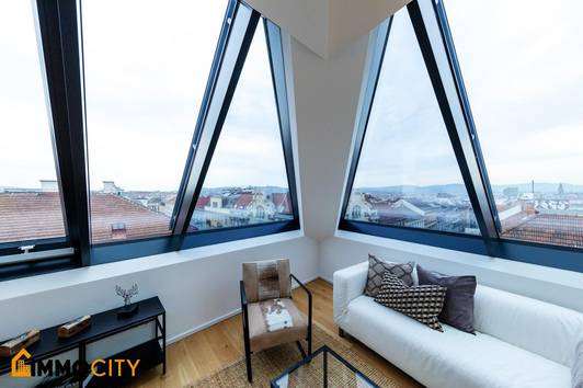 Wahrliches Unikat! Durchdachte Raumaufteilung mit hofseitigem Terrassen-Panoramablick