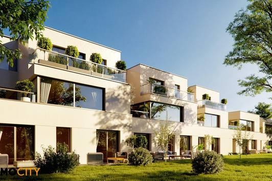 Wohnen im Grünen, Nähe Badeteich! Reihenhäuser in attraktiver Lage, 3-4 Zimmer auf 68 m² bis 152 m² inklusive Gartens, Terrasse, Keller und Garage!