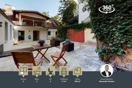 Außergewöhnliches Wohnen im Winzerhaus | 5 Zimmer | 204m² | Sauna | Wohnhauscharakter | phantastische Lage