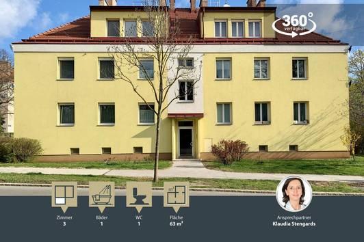 Tolle 3 Zimmer Wohnung - GRÜNBLICK IN RUHIGER LAGE - saniert und sehr gepflegt