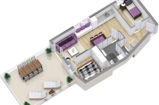 Stilvolle 3-Zimmer Wohnung mit exklusivem 32m² Balkon und Alpenblick Top 1.1