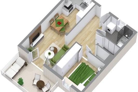 Anlegerwohnung - gemütliche 2-Zimmer Wohnung mit Blick in Richtung Alpen Top 2.3