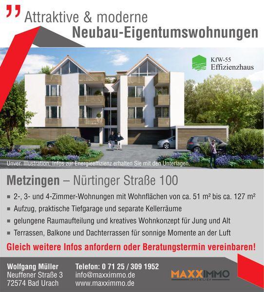 Immobilien Metzingen bau wurde begonnen wohnen in metzingen neubau maxximmo