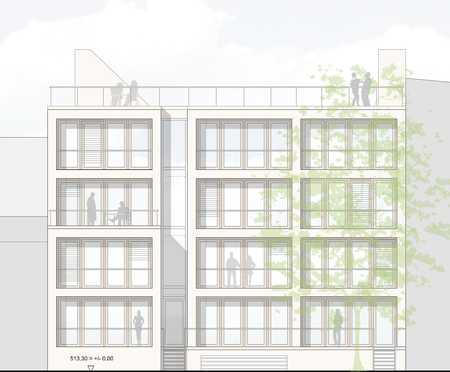 Toplage Maxvorstadt: 2-Zimmer Wohnung im Innenhof! Neubau Erstbezug in Maxvorstadt (München)