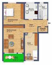 Helle freie 3-Zi -Wohnung - Feldmoching
