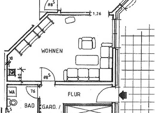 Schöne, geräumige und voll möblierte zwei Zimmer Wohnung in Rheinböllen