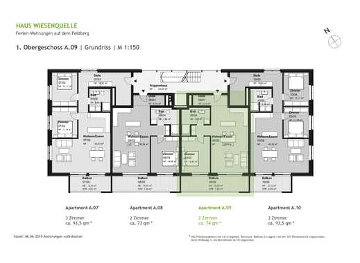 A.09 - 2 Zimmerwohnung im 1.OG mit SW-Ausrichtung - HAUS WIESENQUELLE Feldberg