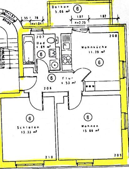 Grundriss 2. Wohnung