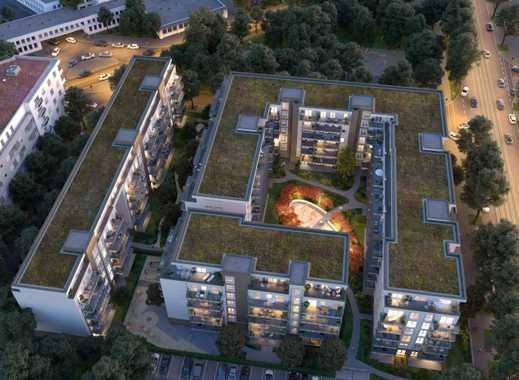 Neubau 3-Zimmer-Wohnung mit großem Balkon Skylineblick und Fußbodenheizung