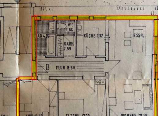 Gepflegte 3-Zimmer-Wohnung mit Balkon und Einbauküche in Oberding
