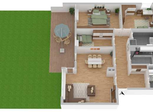Erstbezug: Sanierte 4-Zimmer Wohnung mit eigenem Garten in Top-Lage in Neubauzustand WE03