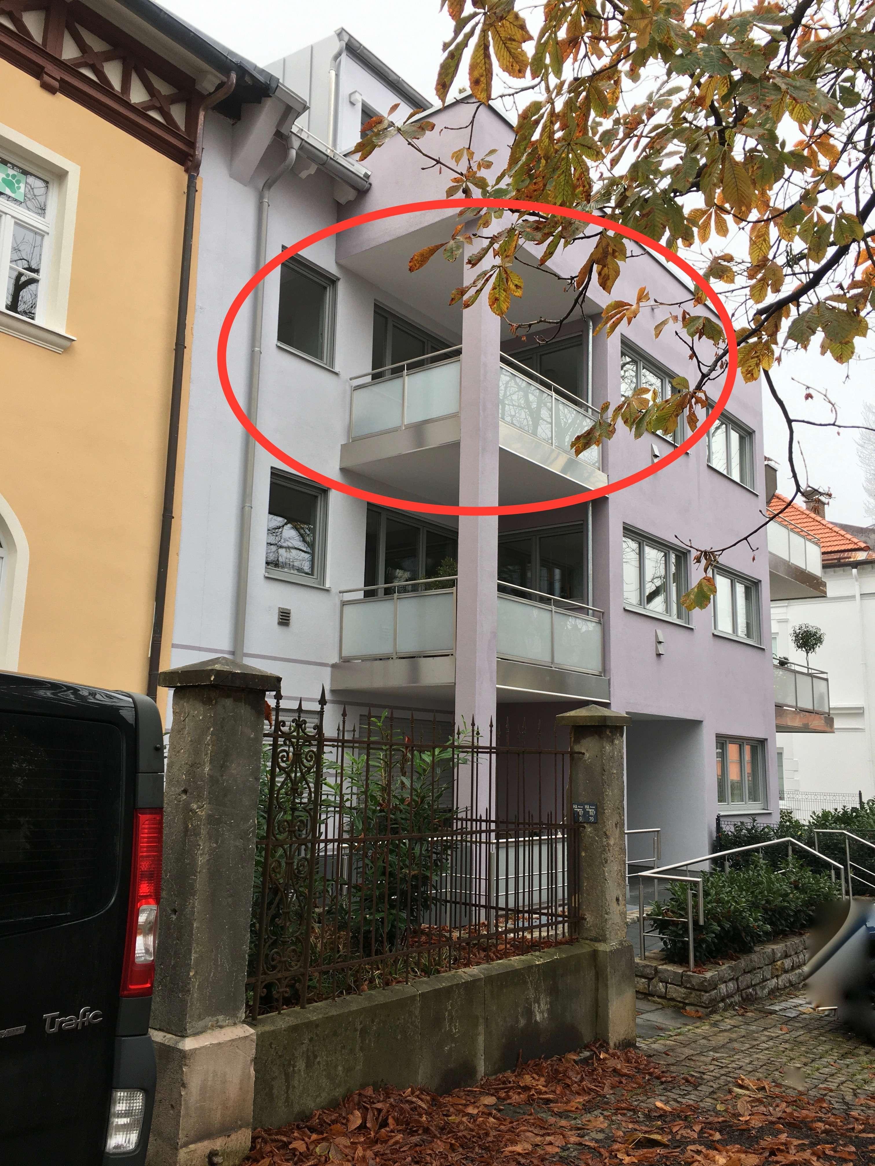 Zentral gelegene 2-Zimmer-Wohnung mit Bergblick in Traunstein in Traunstein
