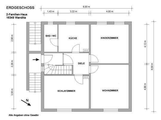Freistehendes 2-Familienhaus in Wandlitz mit Ausbaumöglichkeiten - Bild 25