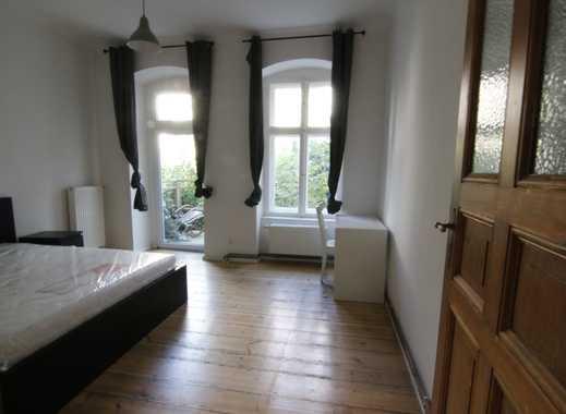 Zwischenmieter für 2 Jahre - möblierte EG-Wohnung Hinterhaus mit Garten - 3 Zimmer Altbauwohnung