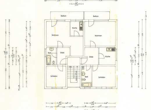 Helle neu renovierte 2 Zimmer Wohnung mit grossem Südbalkon OG rechts