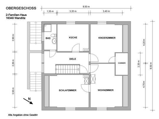 Freistehendes 2-Familienhaus in Wandlitz mit Ausbaumöglichkeiten - Bild 26