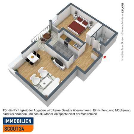 Schöne 2 Zimmerwohnung in ruhiger Lage! Provisionsfrei! incl. in Haidenhof Nord (Passau)