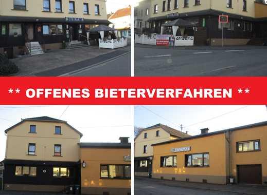 *OFFENES BIETERVERFAHREN* Komplettes Haus zu verkaufen: Eigentumswohnung im OG und Tanzcafé im EG