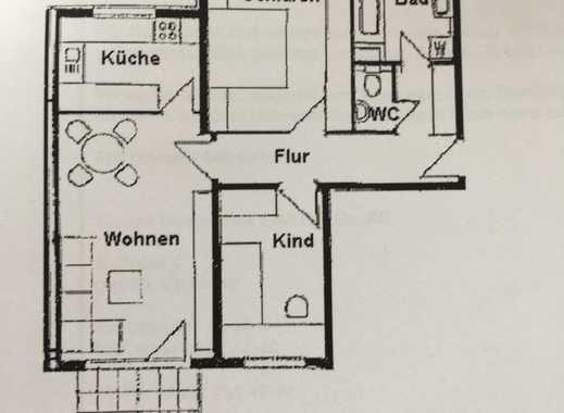 Preiswerte, sanierte, helle 3-Zimmer-Wohnung mit Balkon in Windischleuba - privat