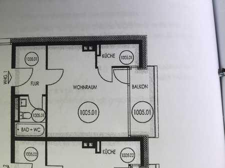 Stilvolle, sanierte 1-Zimmer-Wohnung mit Balkon in Oberschleißheim in Oberschleißheim