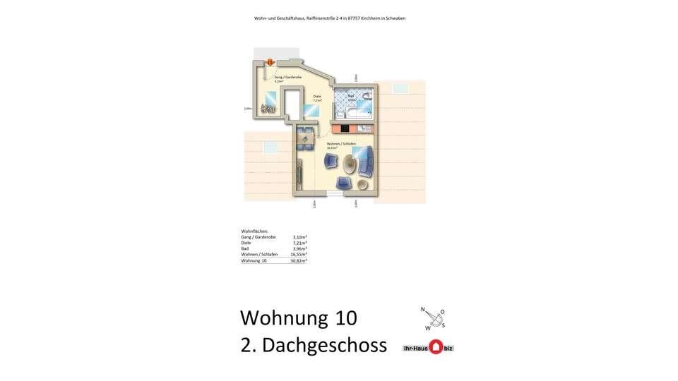 Wohnung 10 im 2. Dachgeschoss