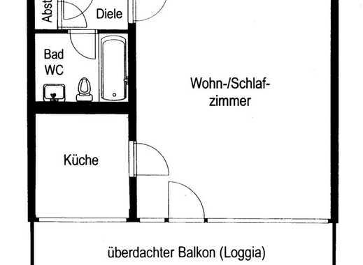 Gepflegte 1-Zimmer-Wohnung mit Balkon und Einbauküche in Weiden, Köln